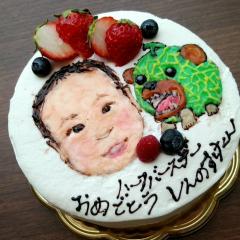 似顔絵キャラケーキ