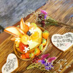 桃とメロンのタルト 季節限定